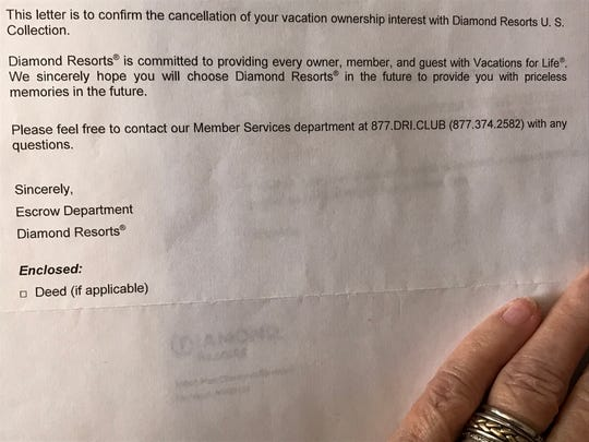 Diamond Resorts confirmed in writing that Betty and Frank Lusk's $150,000 timeshare had been canceled. But the company later said it had been a mistake and kept sending bills.