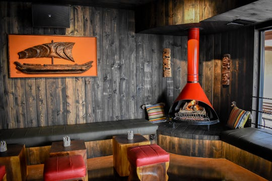 Inside the new Drunk Munk, tiki bar and restaurant in Scottsdale.