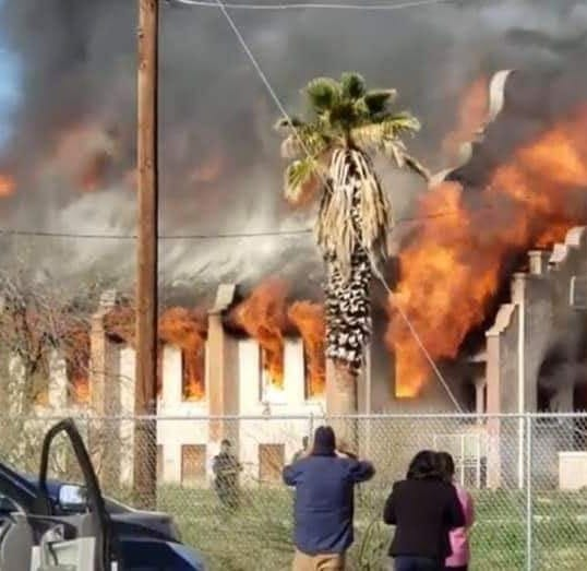 Historic Presbyterian church built in 1918 demolished in fire in Sacaton