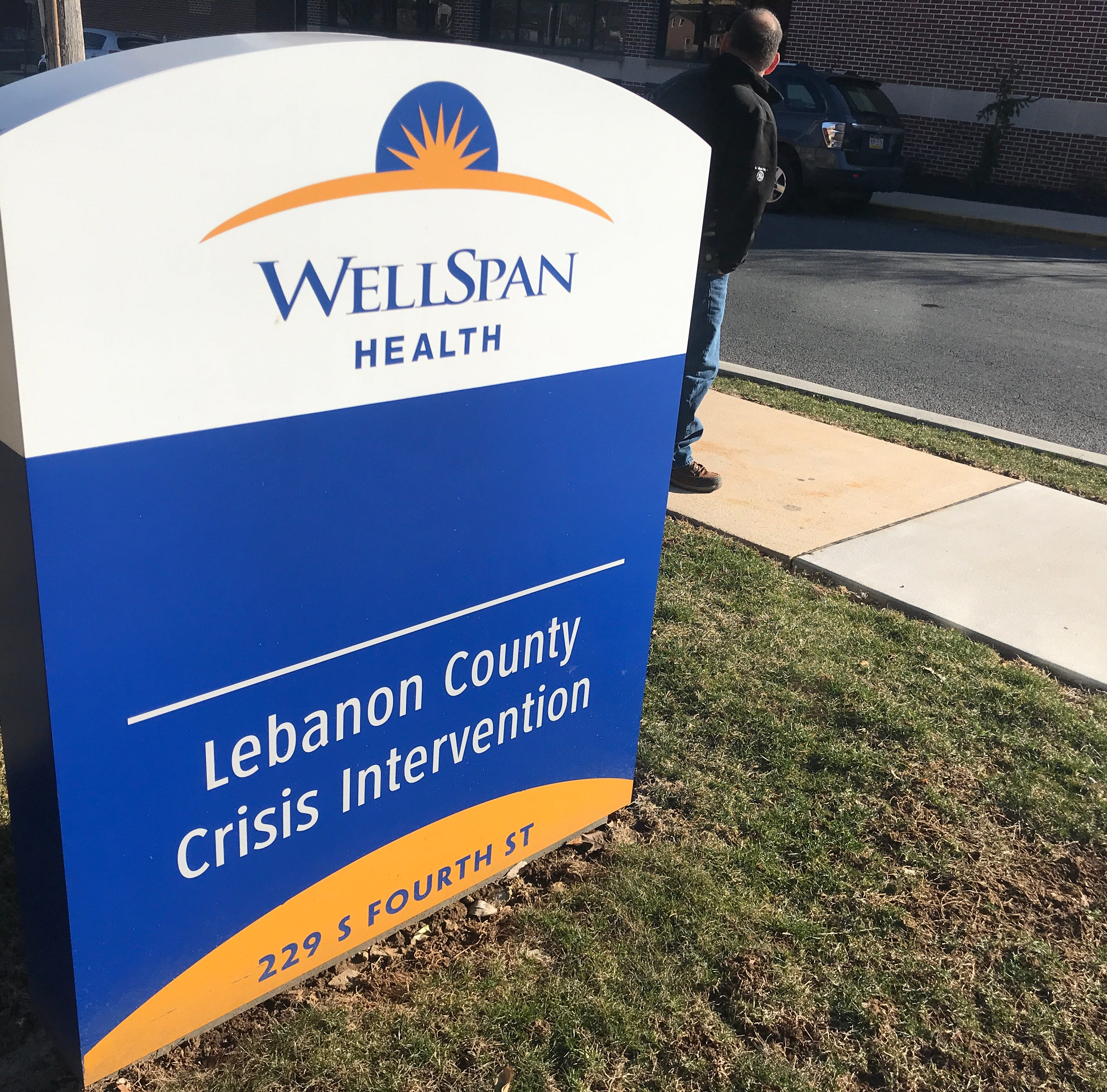 What happens when you call the Lebanon County Crisis Intervention helpline about suicide?