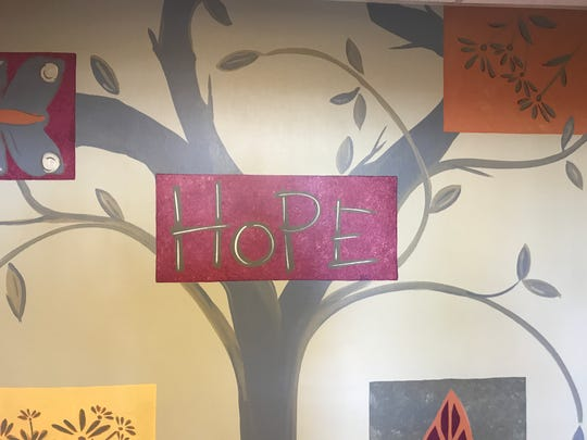 A painting on a wall at Lebanon County Crisis Intervention