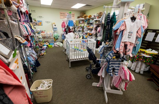 The Baby Boutique is filled with new and gently used items that have been donated.