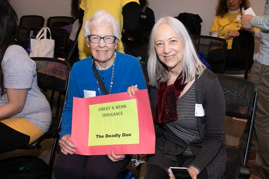 """The """"Deadly Duo,"""" Joan Quick, left, and Kathleen Crampton, were co-winners of the 2018 spelling bee."""