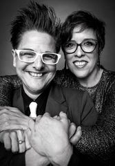 Eva Tenuto, right, and her wife, Julie Novak, are co-founders of TMI Project.