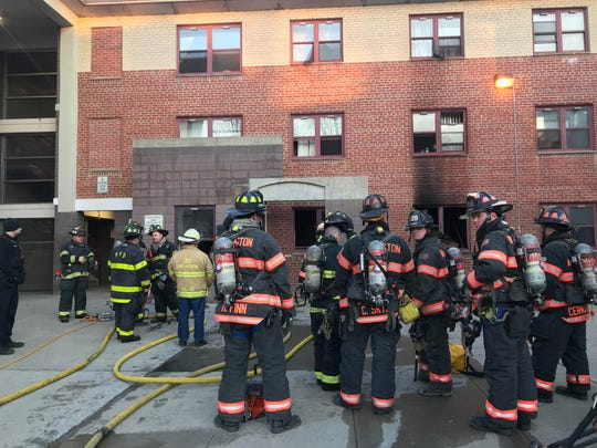 Multiple fire agencies responded to the report of a fire at Hudson Garden Apartments in the City of Poughkeepsie Wednesday morning on March 27, 2019.