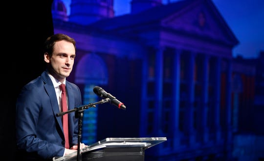 Michael Kratsios, Deputy Assistant to the President for Technology Policy, the Whitehouse, provides the keynote speech during VentureBeat BLUEPRINT YORK, Wednesday, March 27, 2019. John A. Pavoncello photo