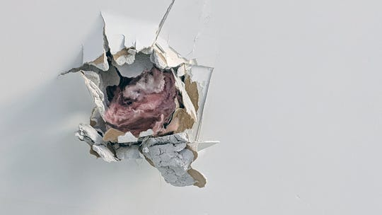 A metal object, about the size of a baseball, pierced a roof, sheathing, insulation and was stuck in the bedroom ceiling of the Craft's home on Rannoch Lane in Spring Garden Township on Feb. 28.