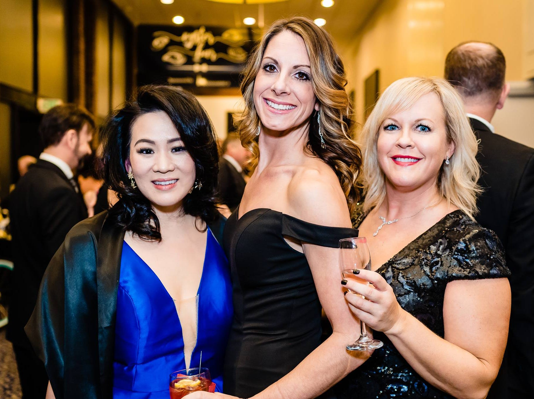 The funds will go toward helping Penn-Mar expand and maintain existing services for Pennsylvania and Maryland residents with intellectual and developmental disabilities. (Left to right) Diana Lee, Allison Braglio and Lindsay Moore pose at the gala, March 2, 2019.