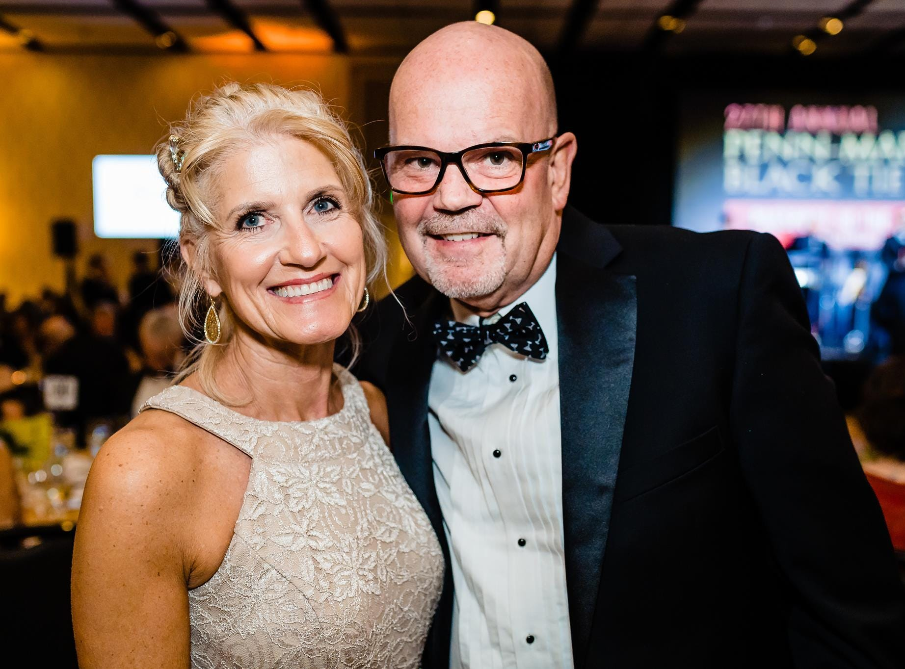 (Left to right) Robin & David Stang pose together at Penn-Mar Human Services' annual Black Tie Gala, Saturday, March 2, 2019.