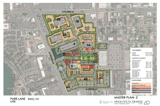 A map of the Park Lane project's master plan.