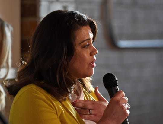 A photo fo Nevada Assemblywoman Teresa Benitez-Thompson taken during the RGJ's Pints and Politics event held on March 26, 2019.
