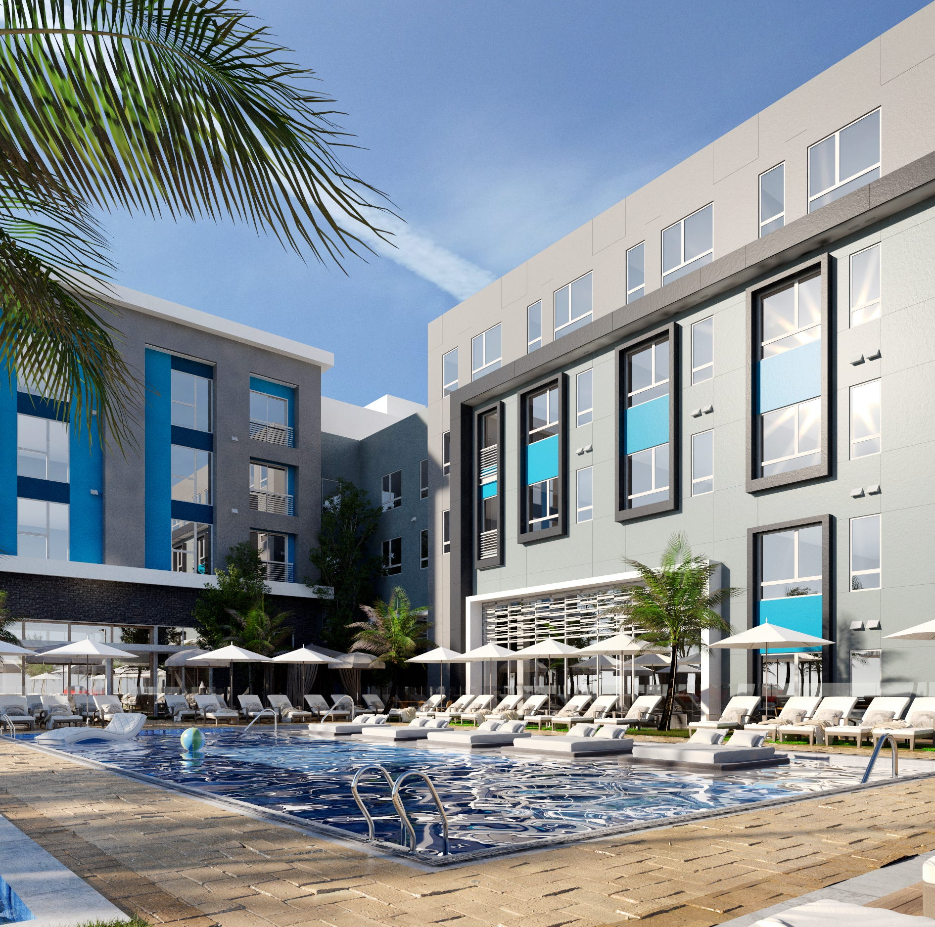 New rendering shows lots of California inspiration as Park Lane construction revs up
