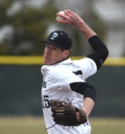 North Valleys' Daniel Sieverin pitches against the Lowry Buckaroos at North Valleys on March 22.