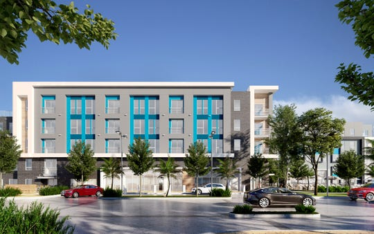 A rendering of a building in the Park Lane project.