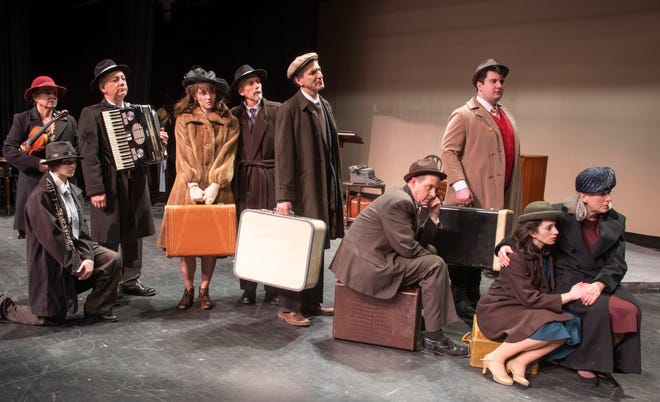 The JCC cast, including the on-stage Klezmer band that plays music during the show.