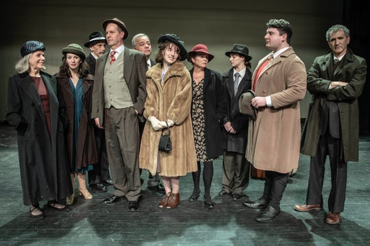 The cast of JCC's Indecent recreate the historic photo of the cast of God of Vengeance, the inspiration for the play.