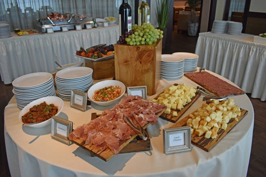 The Easter brunch buffet at Portico by Fabio Viviani at del Lago Resort and Casino includes a cheese display.