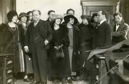 The Broadway cast of God of Vengeance in 1923, the year of their arrest.