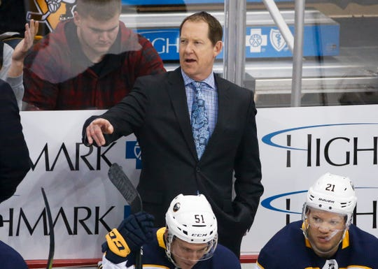 Phil Housley was fired by the Sabres Sunday Apr. 7. He was 58-84-22 in his two seasons.