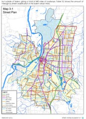 Salem is made up of freeways, parkways, major and minor arterial roads, collector and local streets.