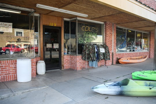 Cole's Army Surplus at 118 N. Chadbourne St. has military surplus as well as camping, hunting and police tactical gear.