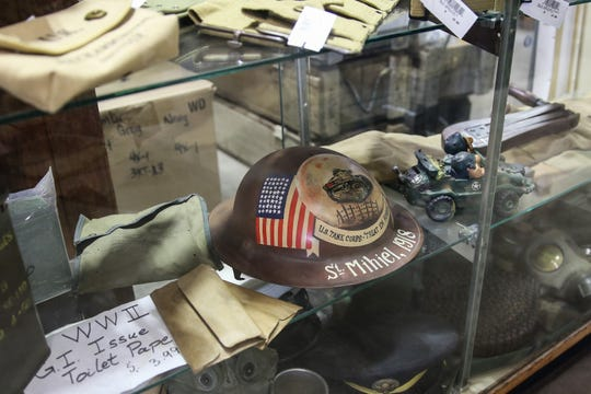 Cole's Army Surplus has a variety of vintage military items such as helmets, clothing and gear.