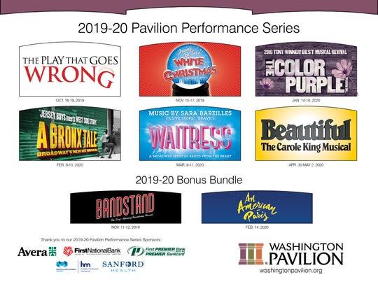 The Washington Pavilion announced its performance series for the 2019-20 season.