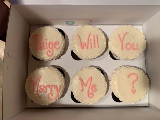 Chase Weeden proposed to his girlfriend, Paige TeGantvoort, with cupcakes from Oh My Cupcakes! on March 23, 2019. Oh My Cupcakes! is one of TeGantvoort's favorite Sioux Falls destinations.