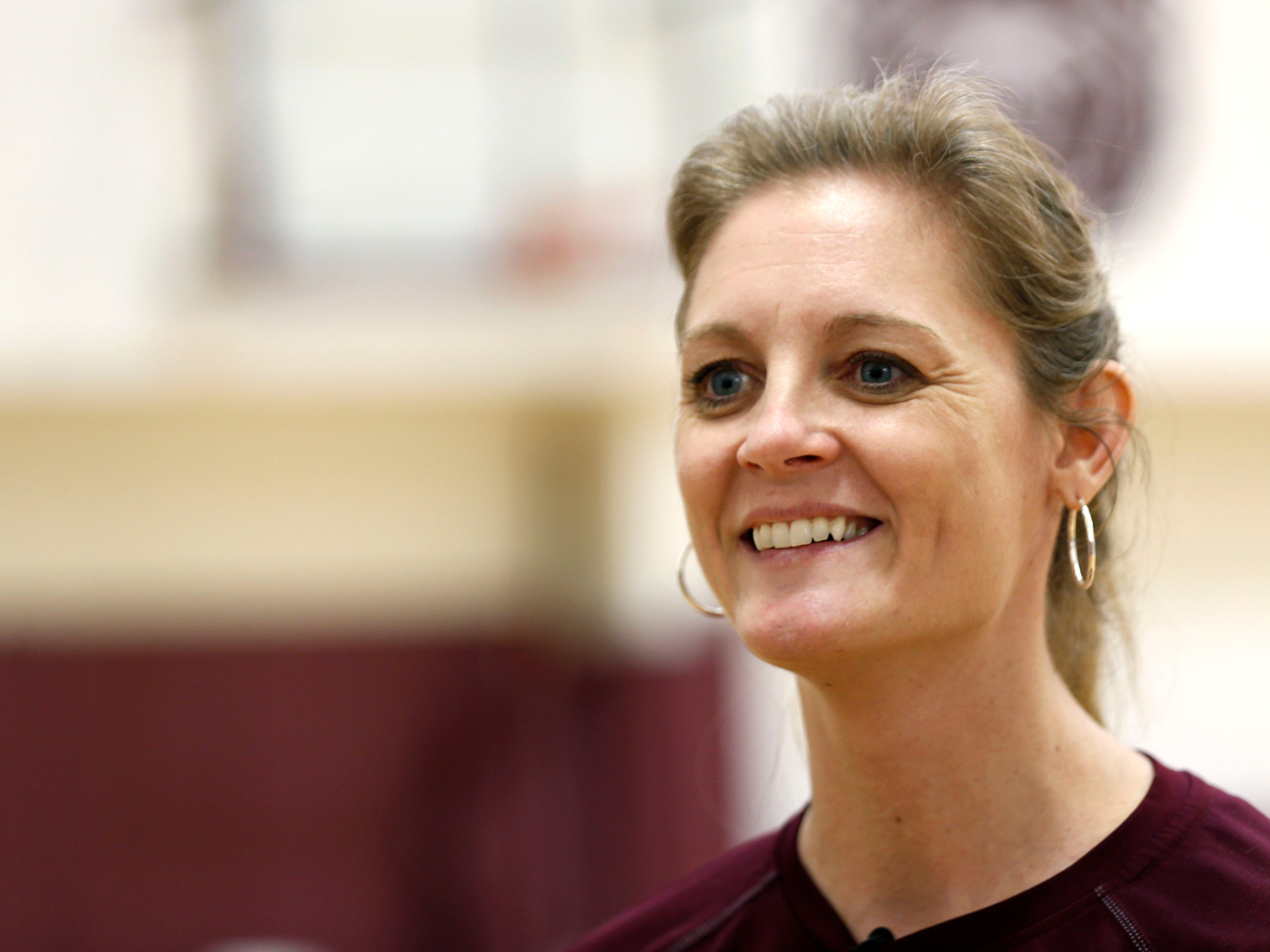 Missouri State Lady Bears head coach Kellie Harper talks to the media before practice on Wednesday, March 27, 2019.