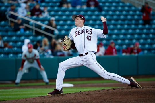 The Missouri State Bears took on the Arkansas Razorbacks at Hammons Field in Springfield, Mo. on Tuesday, March 26, 2019.