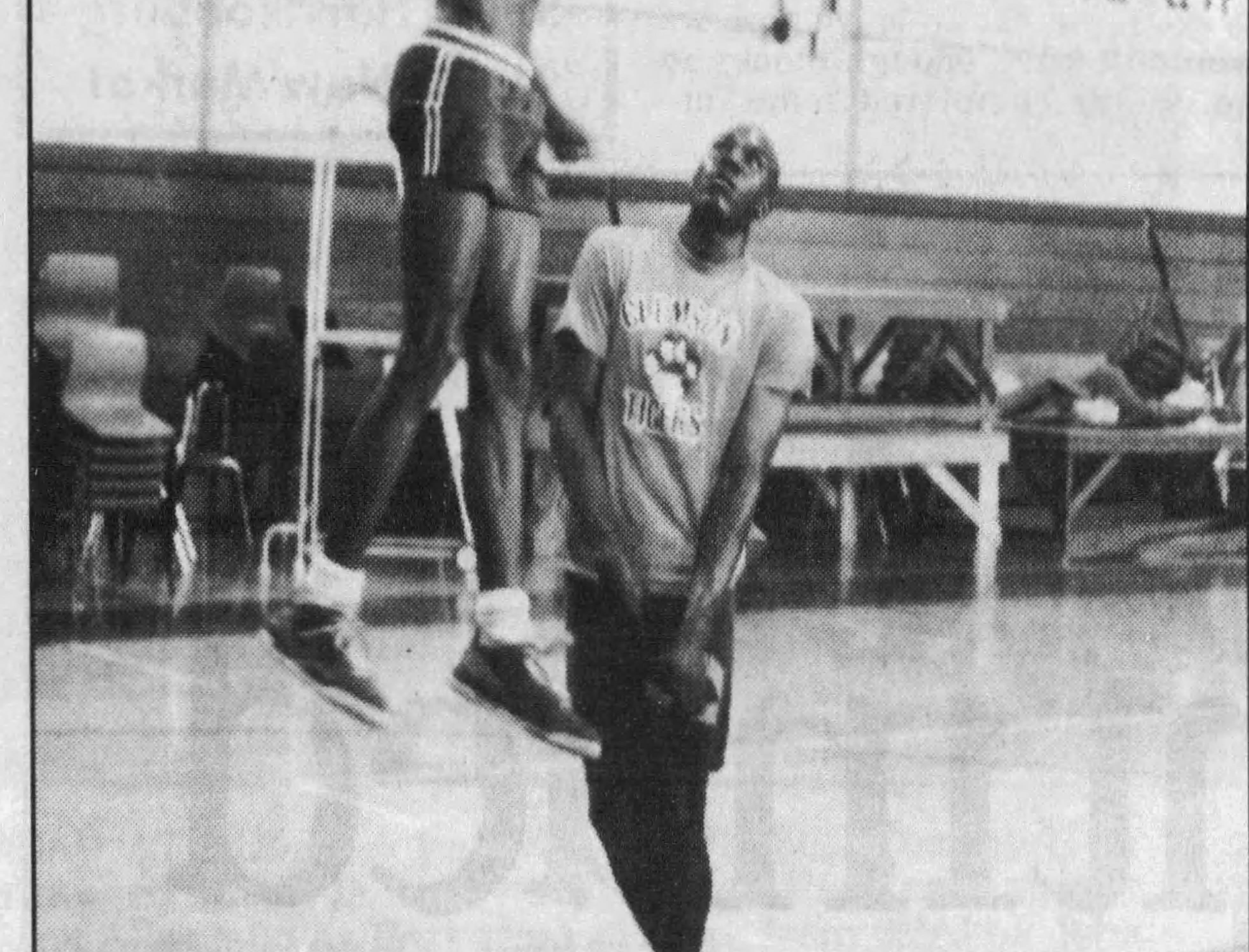 Keith Scott practices for his AAU team in 1989 in this photo from The News Leader.