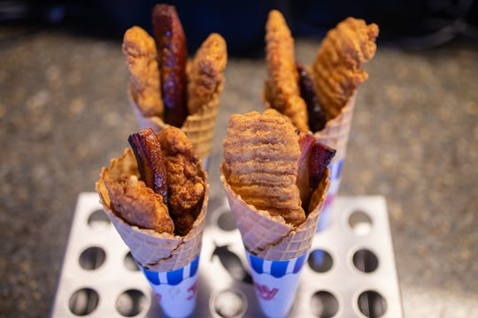 The Chicken & Waffle Cone is one of many concessions available at Minnesota Twins home games this year.