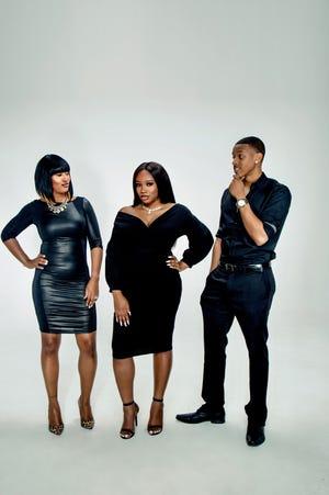Me Against the World cast members Star Swain (left), Gladys Olivia Murray and Ki'Jana K. Garmon.