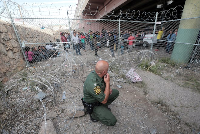 Hundreds of migrants were held beneath the Paso Del Norte International Bridge in El Paso after CBP ran out of space to process the asylum seekers. They since have been moved.