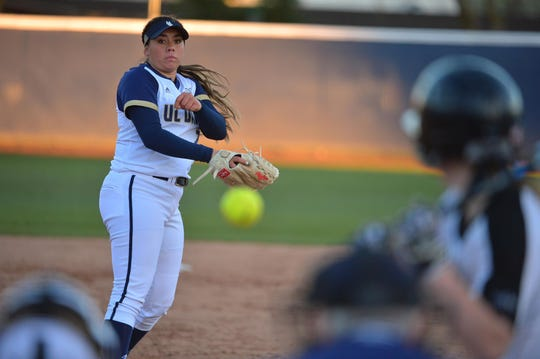 Buena High graduate Brooke Yanez pitched the first perfect game in UC Davis history as a Division I program against Sacramento State on March 12.