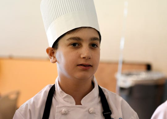 Petway School fifth grader Dominic Mercado was awarded first place for his 'Mexican Watermelon Salad' in a Sodexo Future Chefs competition at Wallace Intermediate School in Vineland on Wednesday, March 27, 2019.