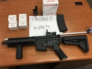 During a parolee sweep on Tuesday, March 26, 2019, officers found an AR-15 style rifle and 300 rounds of ammunition.