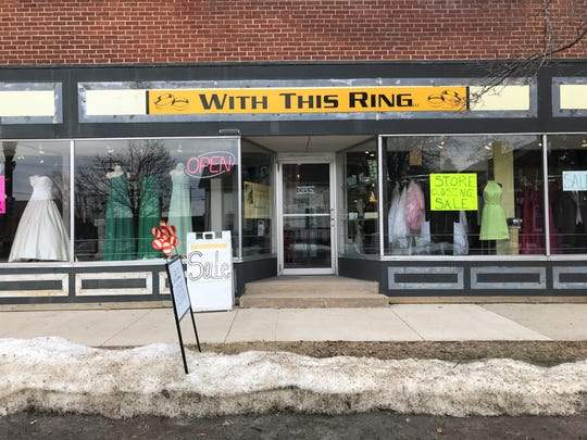 Wedding gowns at With This Ring are 50 percent off as the owner prepares to close by May 31.
