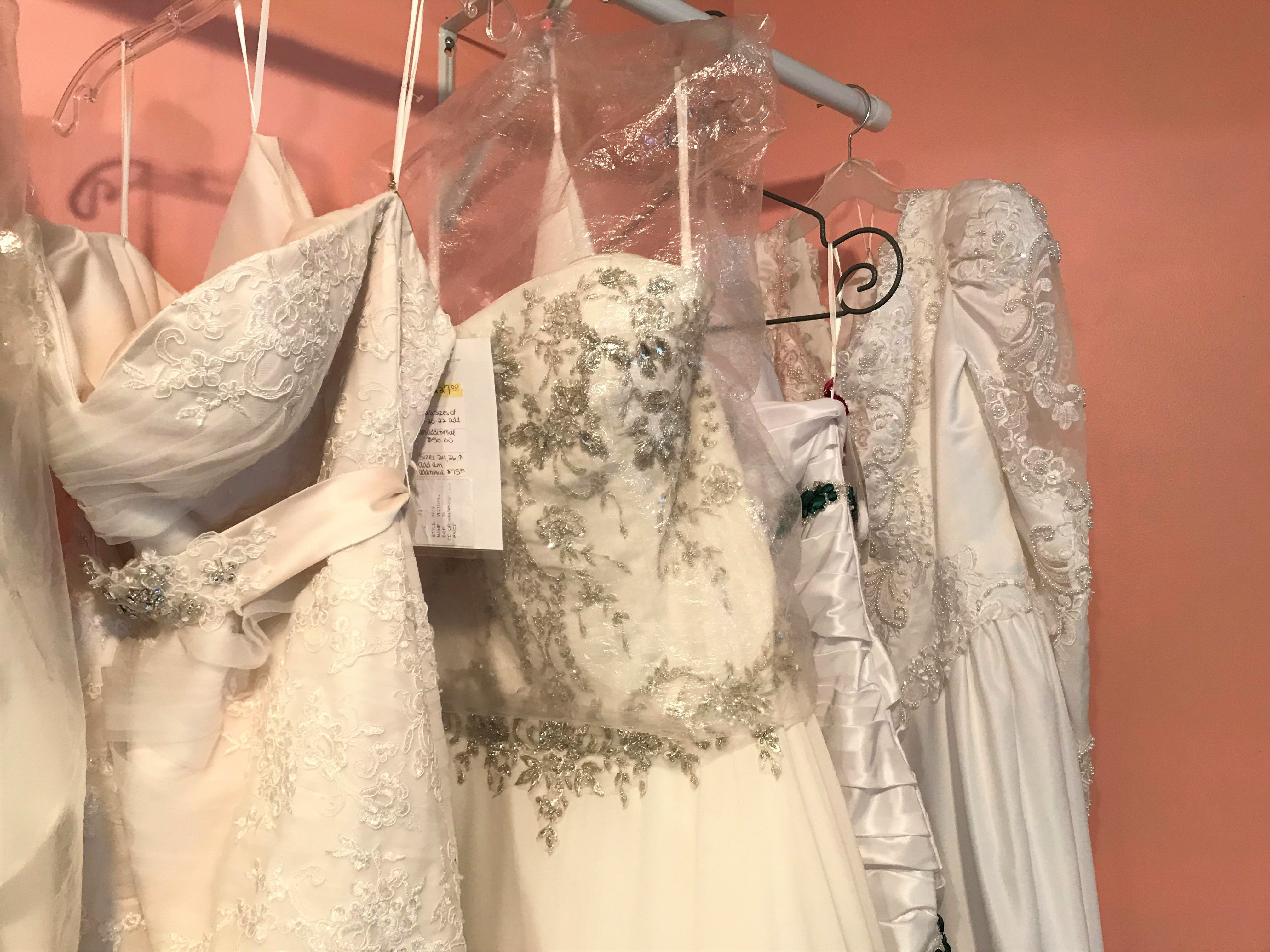 Wedding dresses at With This Ring come in a variety of styles for local woman who want different options.