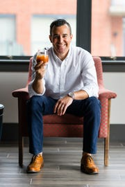 Alejandro Lopez, the New Rochelle founder of Toma Bloody Mary mixers.
