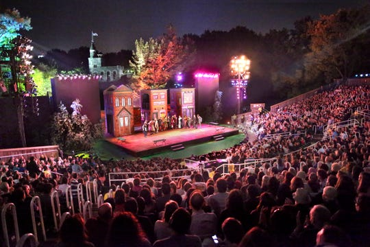 A performance at the Delcorte Theater in Central Park.