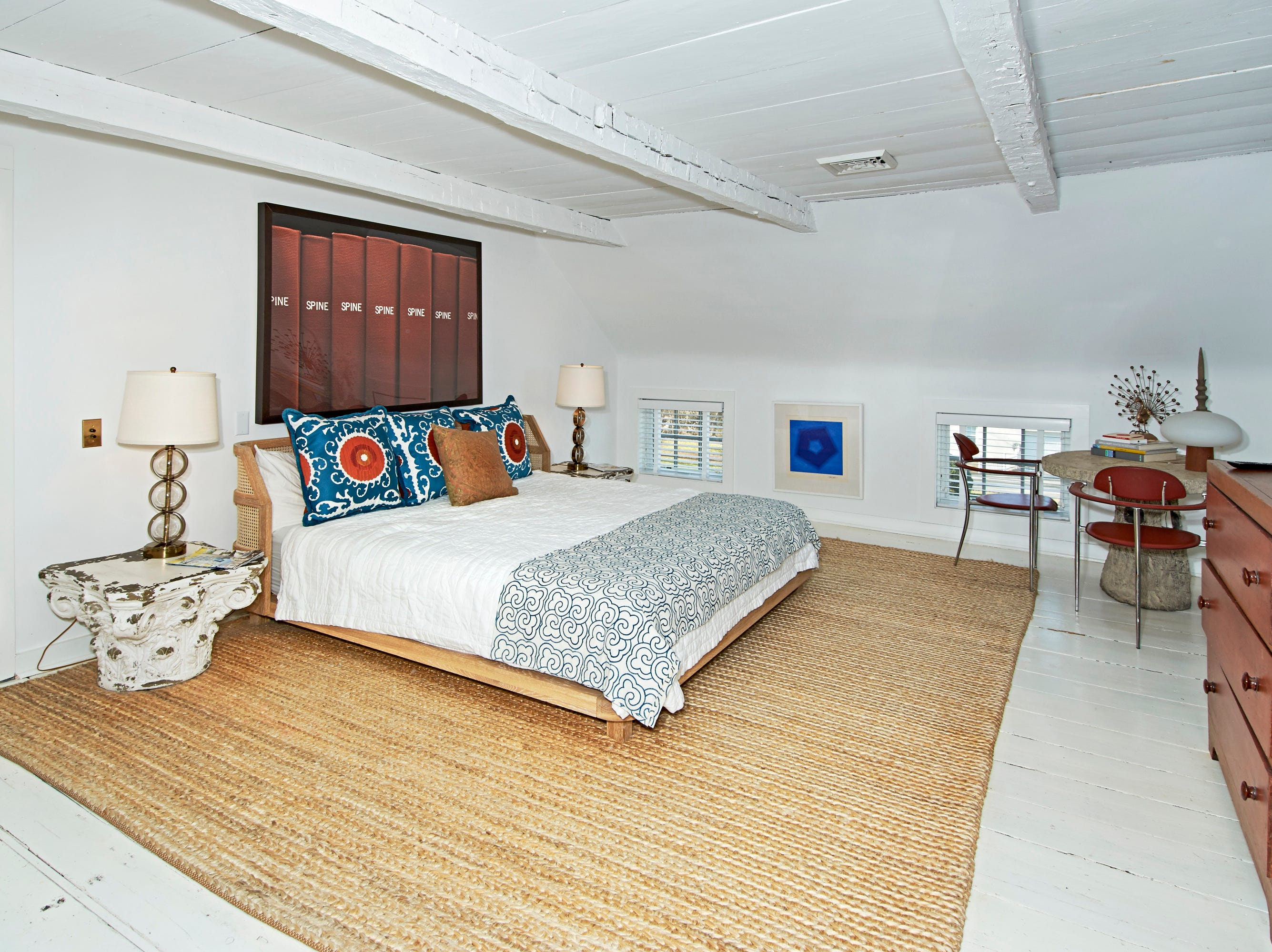 One of the bedrooms in a re-imagined 1710 Colonial in White Plains.