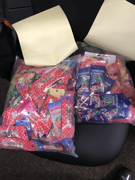 THC cartridges wrapped to look like candy seized in Harrison.