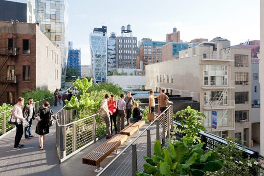 Enjoy a nice spring day on NYC's High Line.