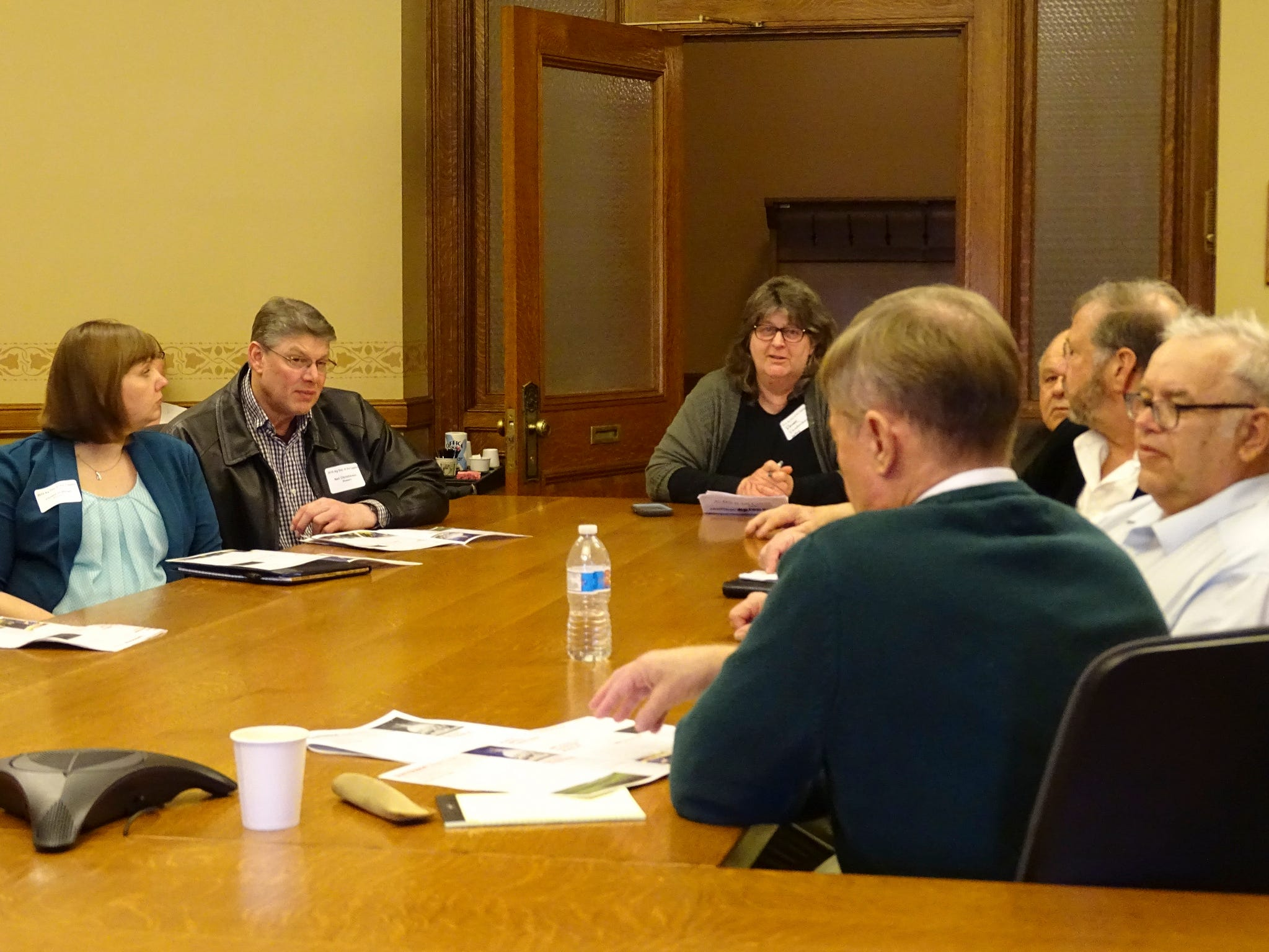 Farm Bureau members from northeast Wisconsin talked about the state budget and clean water with elected officials during Ag Day at the Capitol.