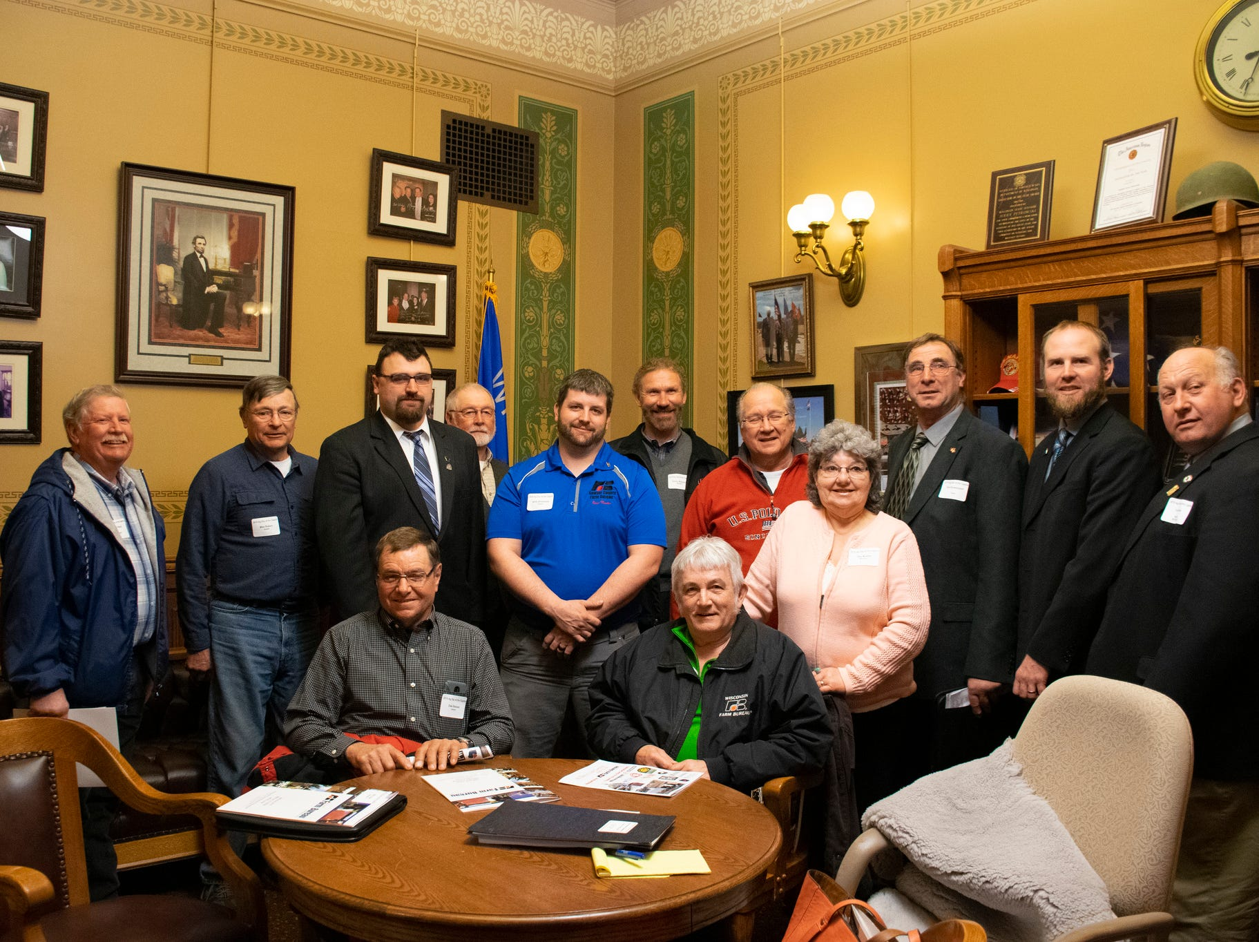 Farm Bureau members from northwestern Wisconsin met with Senator Petrowski during Ag Day at the Capitol.