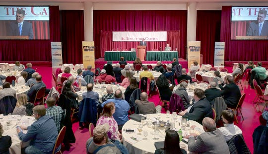 Brad Pfaff, new Wisconsin Secretary of Agriculture, spoke to about 200 members of the Wisconsin Farm  Bureau on March 20.