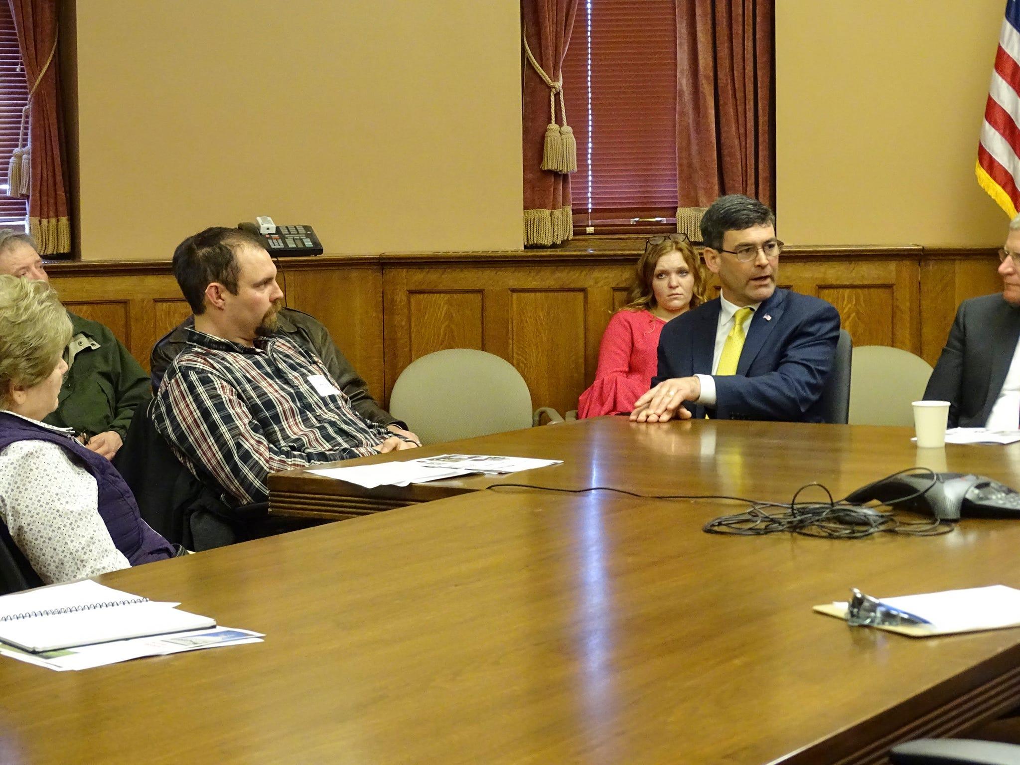 Mike Turner, Sauk County Farm Bureau president, helped facilitate discussions on behalf of Farm Bureau members with Rep. Kurtz, Senator Marklein, Rep. Tranel and Rep. Novak.