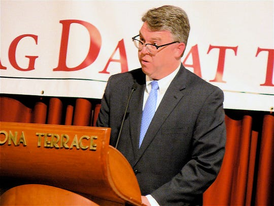 Brad Pfaff, new Wisconsin Secretary of Agriculture encouraged farmers to help him in his job.
