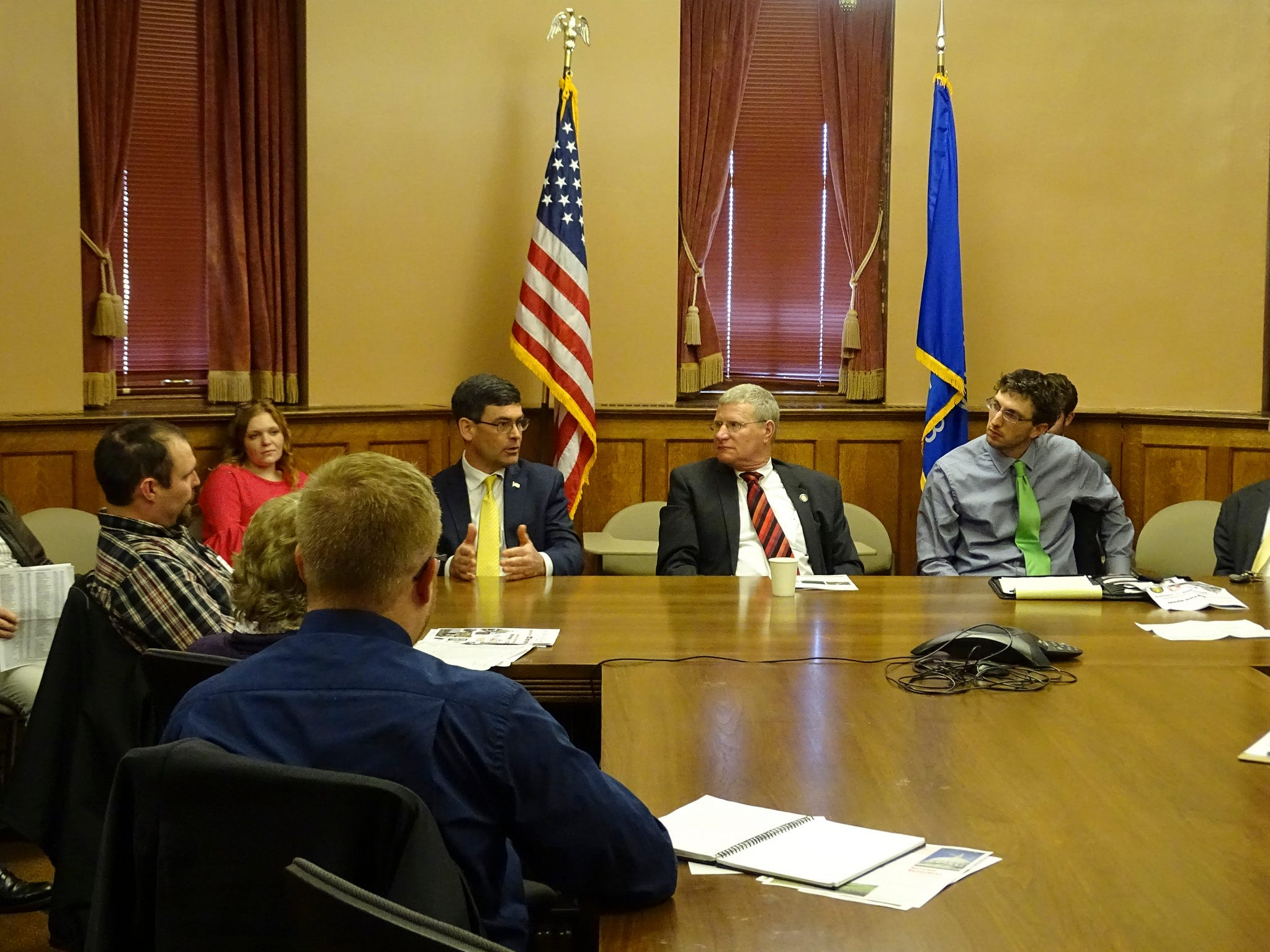 Ag Day at the Capitol attendees listened to guest speakers from various agricultural organizations during a legislative briefing session.